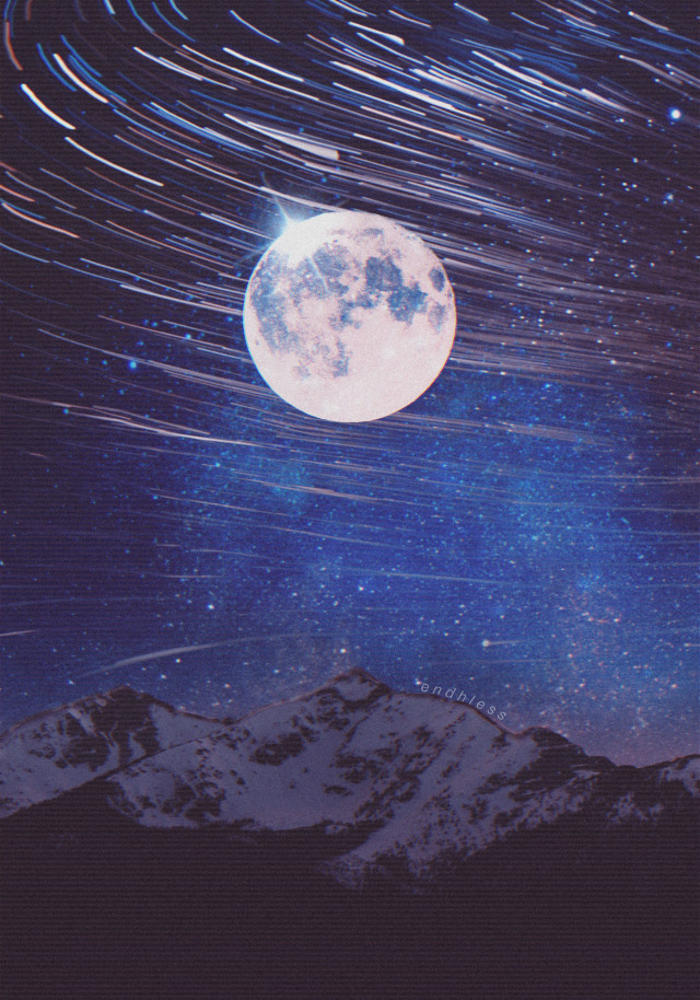 ✨   #freetoedit #moon #stars #galaxy #papicks