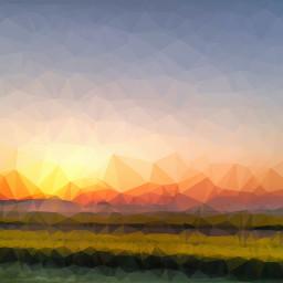 sunset cube frenchlandscape
