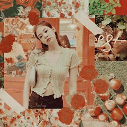 jennie blackpink green red aesthetic freetoedit