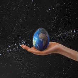 freetoedit easteregg space earthegg earth eggdecoration