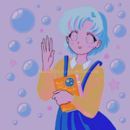 sailormercury prettyguardiansailormoon aesthetic blue cute