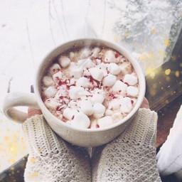 freetoedit marshmello hotchocolate snowflake snowy
