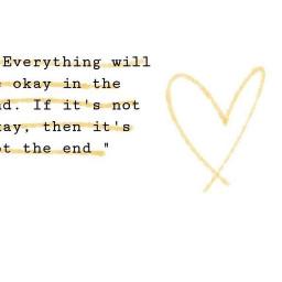 freetoedit yellowheart everythingwillbeokay true pinterest