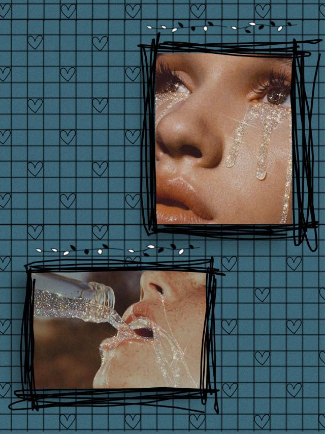 #blue #heart #eyes #art #color #creative #aesthetic #pictures #remix #remixit #replay #interesting #wallpaper #edit #retro #vintage #portrait #background