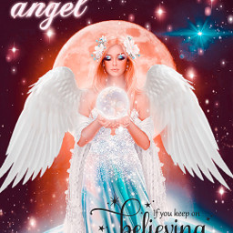 angel earth moon stars celestial freetoedit