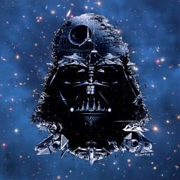 freetoedit starwars deathstar darthvader starwarsedit