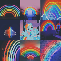 mylittlepony mylittleponyfriendshipismagic rainbowdash rainbows aesthetic