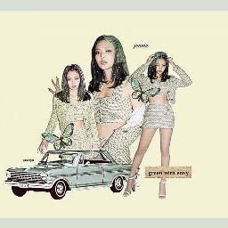 blackpink jennie blink green car