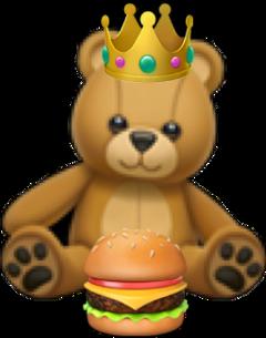 autocollantscute hamburguer nounours peluche couronne freetoedit
