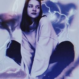 freetoedit thunder lightning sky giro
