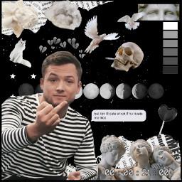 freetoedit taronegerton rocketman moonandstars skull