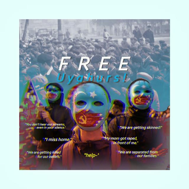 """"""" Free Uyghurs """"    #freetoedit #uyghur"""