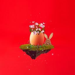 freetoedit happyeaster colorful egg bunny irceggdecoration