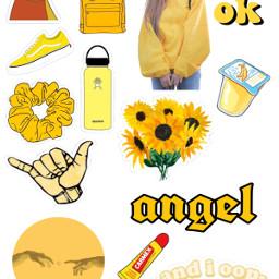 aestheticstickers yellowaesthetic freetoedit