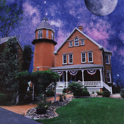 freetoedit lighthouse stars fullmoon moon