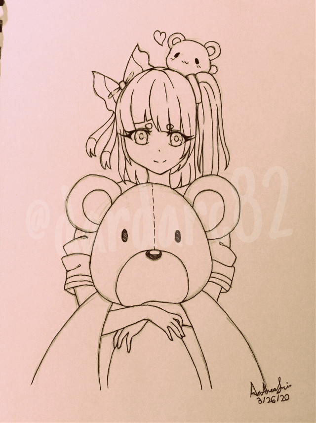 press qwq->  here i present to u le old lineart i did ._. *cough* so inactive qwq  #art #lineart #anime #animeart #teddy #outline #outlines #outlineart