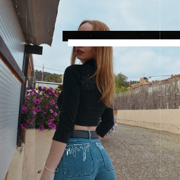 freetoedit girl jeans slime white