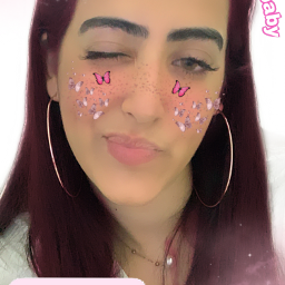pink pinkhair freckles glowfreckles stickers freetoedit