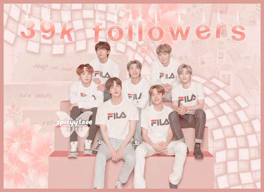 🧚🏻❀༄ [3 9k  f o l l o w e r s]  🧚🏻❀༄ [t h a n k  y o u]    ˗✎*✉️❁༺  Thank you for 39k followers ;-; i appreciate it so much, we're so close to 40k i- O_O  ˗✎*🧸❁༺    ──── ・ 。゚☆: *.☽ .* :☆゚. ────   ↳[i n f o r m a t i o n]✰*.:。✧*  ˗✎*🎐❁༺  ➳ a b o u t   e d i t [⏳] ∾ 00:15:21 [🗓] ∾ april 14 [🕒] ∾ 9:26pm [📱] ∾ phonto picsart polarr [👤] ∾ BTS  ˗✎*🍒❁༺  ➳ b e h i n d   s c e n e s [🎼] ∾ louder than bombs - BTS [💭] ∾ 10/10 [🤍] ∾ mood 🥺  ˗✎*🧚🏻♀️❁༺  🧚🏻❀༄ Like, share, and follow [@spicyytaee] (me) for more ^^  ˗✎*🥂❁༺  ┍━━━━━━»•»🍨«•«━┑                  deysi signing out..... ┕━»•»🍨«•«━━━━━━┙  ˗✎*🍼🍌❁༺  [🏷] tAgSs #BTS #kpop #namjoon #seokjin #yoongi #hoseok #jimin #taehyung #jungkook
