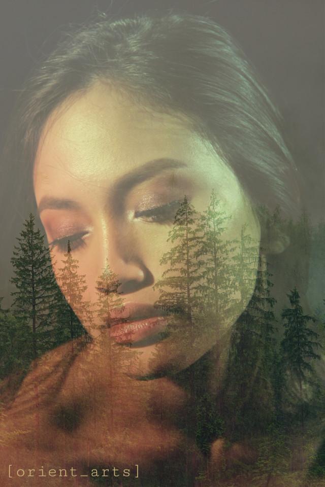 #madewithpicsart #papicks #fantasy #doubleexposure #prettygirl #forest #trees #colours #picsart @picsart #freetoedit
