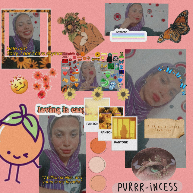 #freetoedit  #aesthetic #grungefashion #retro #vintage#star #aesthetic #pinkaesthetic #aestheticphotography #sunaesthetic #orangegirl #makeup #hijabstyle #hijabstyle_lookbook #hijabfashion