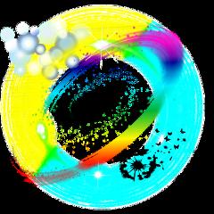 freetoedit bubbles neon black silhouette