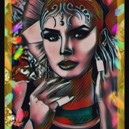 freetoedit portrait woman colors