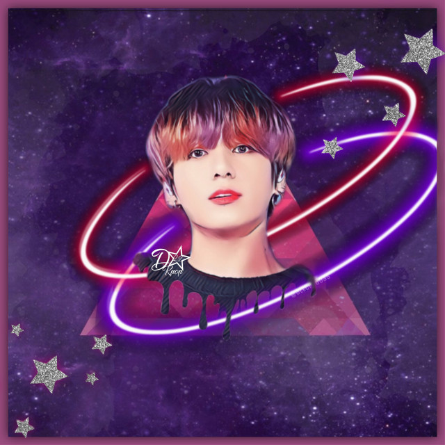 Galaxy Kookie!! 😁💜   This actually took me around a hour to make so im very proud of it!!💜😁  Thoughts?  #jungkook #Kookie #bts #kpop #galaxy #drip #dripart #dripping #stars #purple #cool