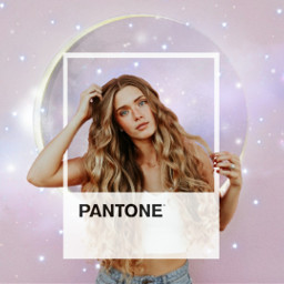 freetoedit remixit pink white moon space pantone aesthetic girl woman stars cloud galaxy