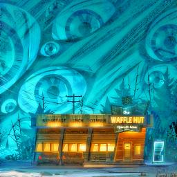 freetoedit snow waffle diner hut