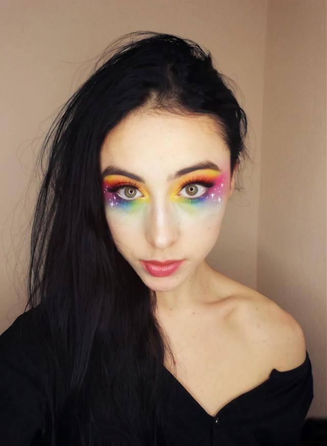 "#colorfulmakeup #makeup #jamescharles #jamescharlespalette #rainbow #""rainbowmakeup #morphe #morphebabe #avangarde #avangardemakeup #undiscoveredmakeup #undiscoveredmakeupartist #creativemakeup #abstractmakeup #underratermua #newmua #aestheticmakeup #editorialmakeup #makeupart #grungemakeup #grunge #peachymakeup #dollmakeup"