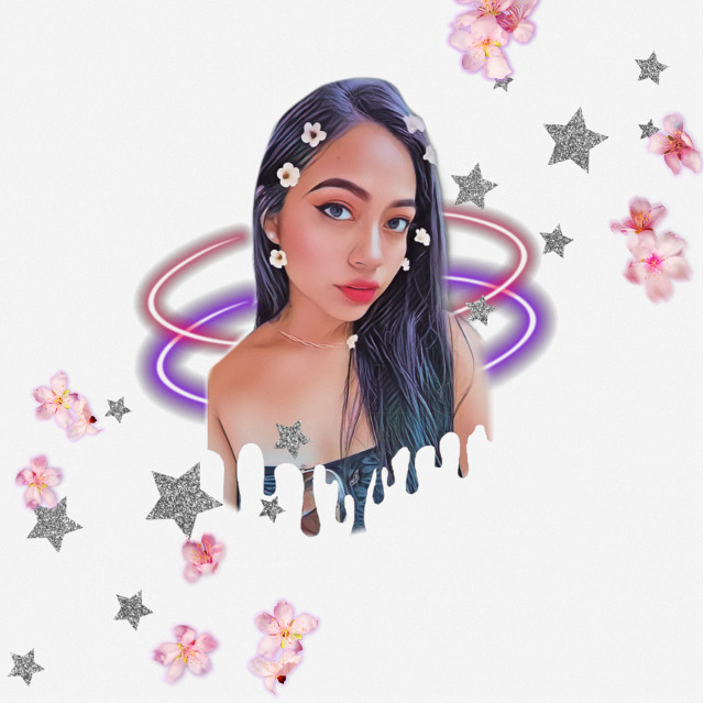 Colorful girl💕💖💘💞💜 #girl #cute #colorful #pink #purple #girly #chick #flowers #stars #model #dinycristii