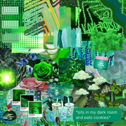 green background text aesthetic bubbletea freetoedit