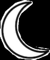 moon crescent black white aesthetic freetoedit