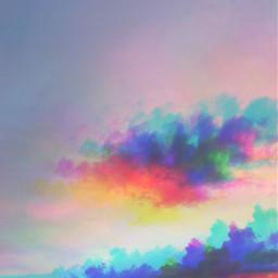 colors cloud clouds sky 3d