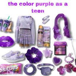 purple bag skittles teen teenager scrunchie freetoedit