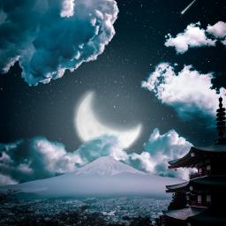 picsart night lightroom japan  @picsart japan
