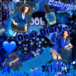 freetoedit darkblue darkblueaesthetic veronicasawyer deardiary