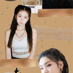 yeji itzy kpop kpopedit gold freetoedit
