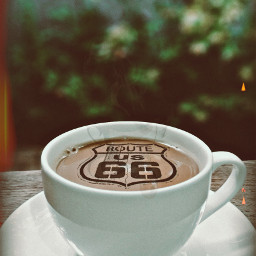 freetoedit remixed route66 coffee cup