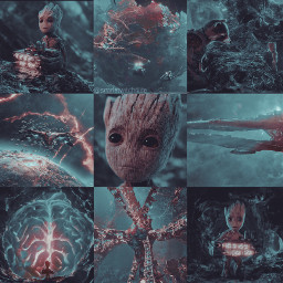 groot marvel mcu guardiansofthegalaxy guardiansofthegalaxyvol2 aestheticedit