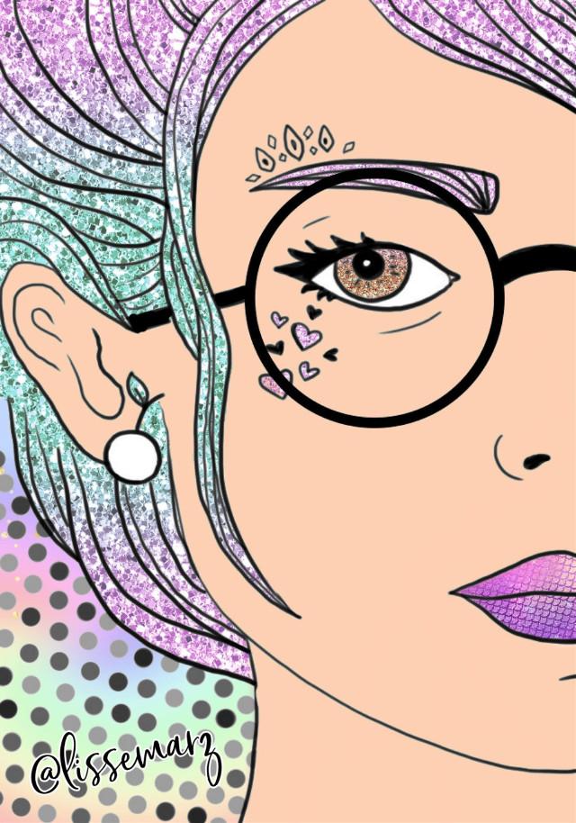 #freetoedit #girl #rainbow #glitter #galaxy