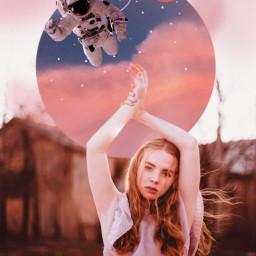 freetoedit galaxy girl aesthetic tumblr