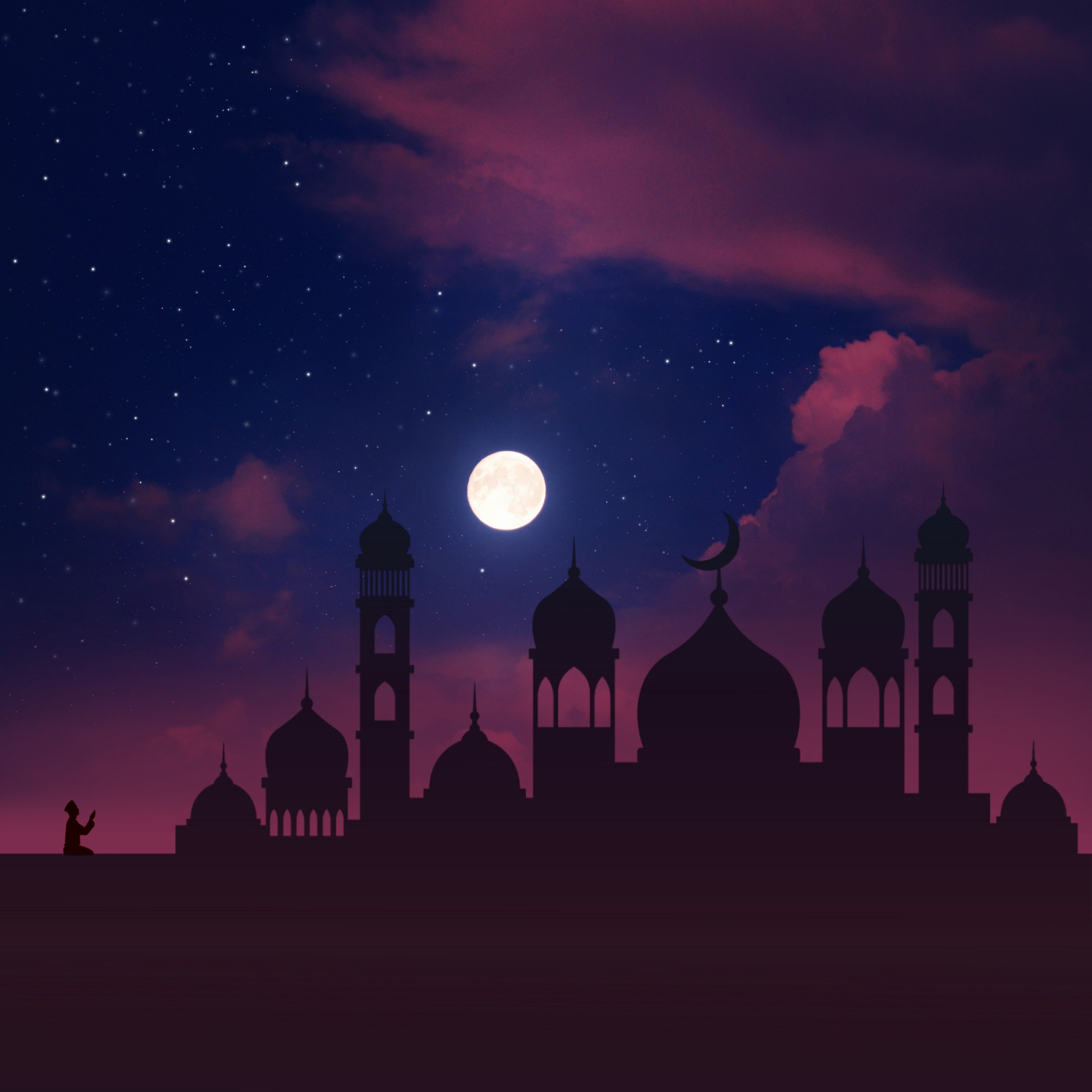 #freetoedit #background #papicks #ramadan #ramzan #clouds #cloud #sky #star #stars #moon #mosque #photomanipulation #madewithpicsart #creative #surreal #v