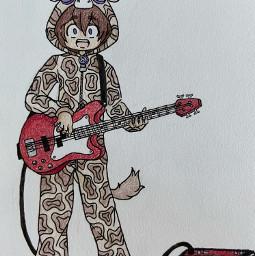 giraffe onesie drawing colorpencilart bass