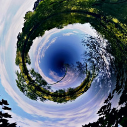water tinyplanet trees treeline mirror