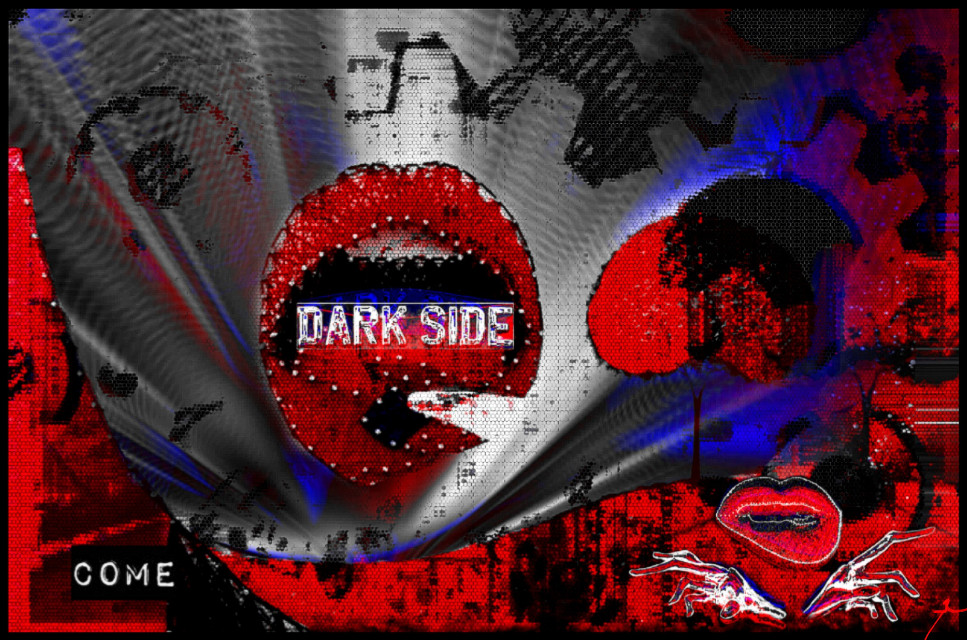 """Come"" #originality #cool #lit #art #lips #kiss #darkart #3deffect #freetoedit"