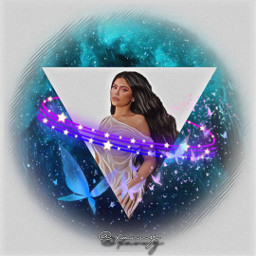 freetoedit kyliejenner galaxybackground triangle new