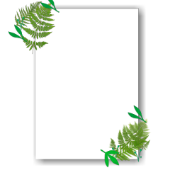 square border green leaves frame freetoedit