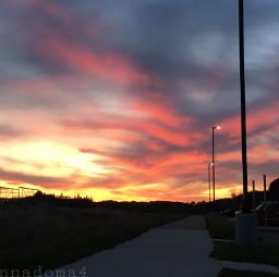 sunset clouds night nature freetoedit